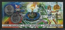 1988 Cook Islands Scott #1000 - Tennis Gold & Silver Olympic Medal Ovpt - MNH