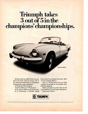 1969 TRIUMPH SPITFIRE Mk3 ~  ORIGINAL PRINT AD