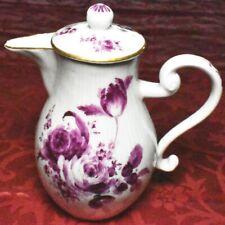 Meissen um 1750  Kanne Kännchen Blumenmalerei Purpur Blumen 18.Jh.
