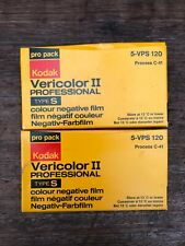 7 x Kodak Vericolor II Professional Type S5 VPS 120 colour negative film, sealed