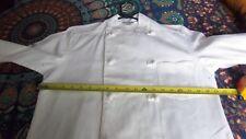 Unisex. Long Sleeve White Chef Coat Jacket Restaurant Hotel Cook.