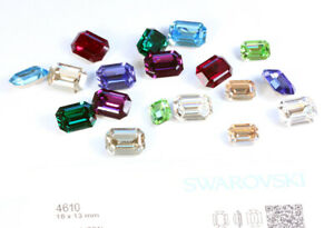 Genuine SWAROVSKI 4610 Curved Back Octagon Fancy Crystals * Many Colors & Sizes