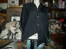 ITEMZ CHRIS BAUMGARTNER Slick Raven Black Silk Blouse Size One Size