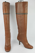 LOUIS VUITTON Paris Boots High Knees All Brown Leather T 36 VERY GOOD CONDITION