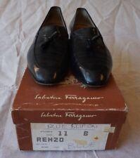 SALVATORE FERRAGAMO Dark Blue Mens Tassel Loafers 11 B Vintage  Florence Italy