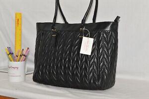 GENUINE LEATHER - NEW - Jane Shilton Designer Shoulderbag Handbag - BLACK