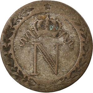 [#857402] Coin, France, Napoléon I, 10 Centimes, 1808, Paris, VF(30-35), Billon