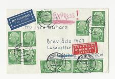 Ungeprüfte Briefmarken aus der BRD (1948-1954) mit Mehrfachfrankatur