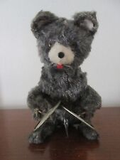 vintage MECHANICAL BEAR Plays cymbals