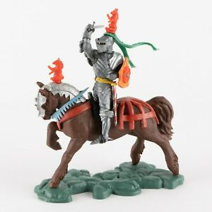 Attacking Knight, Red Horse Passant, Swoppets Knight by Britains of England