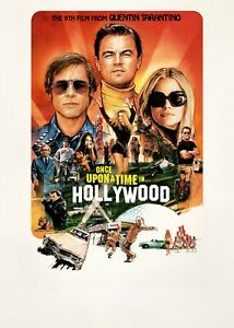 ONCE UPON A TIME IN HOLLYWOOD MOVIE POSTER FILM A4 A3 A2 A1 PRINT ART CINEMA #2
