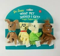 New 4 Finger Puppets What Pet Should I Get? Finger Puppets Set Dr Seuss #154490