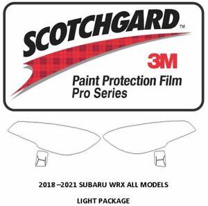 3M Scotchgard PRO Paint Protection Film 2018 - 2021 SUBARU WRX Headlights
