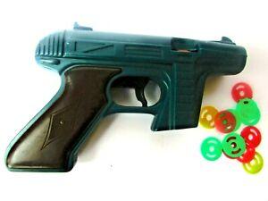 Vtg 1960's Star Trek Green Plastic Rayline Tracer Disc Toy Gun Made in USA Works