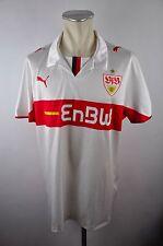 VFB STOCCARDA MAGLIA 2008-09 Taglia XL PUMA EnBW lega federale Camicia Bianco