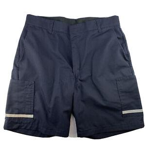 FedEx Men Size 38R Navy Blue Stan Herman VF Imagewear Work Uniform Shorts EUC
