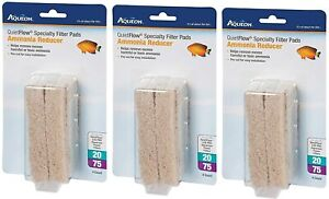 Aqueon (3 Pack) Cartridge Ammonia Minipad Quiet Flow 20/75