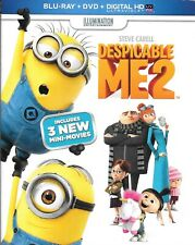 Despicable Me 2 (Blu Ray, DVD, 3-Disc) Slipcover Exclusive Bonus Disc NO DIGITAL