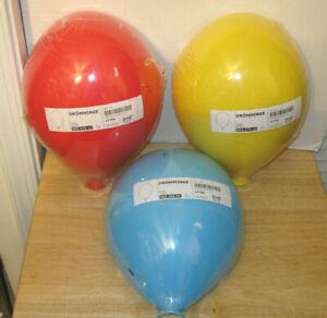 Sealed Set of 3 IKEA Dromminge ~ Red ~ Blue ~ Yellow ~ Balloon Wall Lamp Light