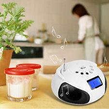 Portable Bluetooth Wireless Stereo Speaker FM Radio Alarm Clock Micro SD Player