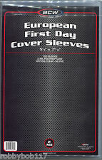 "PACK 100 European FIRST DAY COVER SLEEVES Protectors Stamps Envelope 5"" x 7¼"""