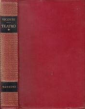 LIBRO TEATRO VICENTE TEATRO VOLUME I E II SANSONI