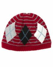 NWT Gymboree Pirate Adventure Hat Size 5 6 7 Burgundy Red Knit Argyle Beanie