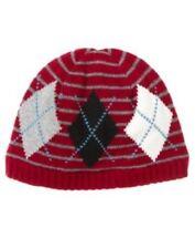 NWT Gymboree Pirate Adventure Hat Size 5 6 7 Burgundy Red Knit Argyle Beanie