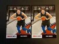 2019-20 Luka Doncic NBA Hoops Lights Camera Action #15 Dallas Mavericks (X2) lot