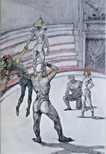 Henri de Toulouse-Lautrec - From Au Cirque - Travail de Tapis
