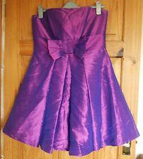 Ariella purple two tone ballgown style strapless dress size 14
