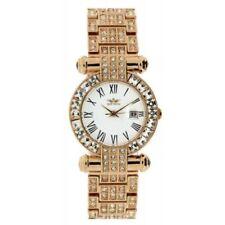 Relojes de pulsera con fecha de oro rosa de oro rosa