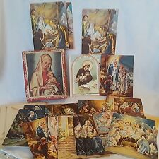 Vintage Religious Christmas Cards with Envelopes in Box 19 Sacred Art Greeting