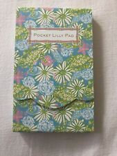 NEW LILLY PULITZER Pocket Lilly Pad Notepad In Crabtastic