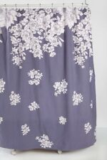 NEW URBAN OUTFITTERS FALLING FLORALS SHOWER CURTAIN PURPLE