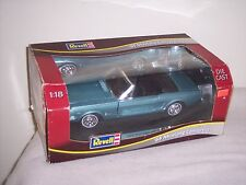 REVELL- 1/18 SCALE- '65 FORD MUSTANG CONVERTIBLE- TURQUOISE ON BLACK- NEW-  L@@K