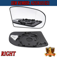 Right Heated Door Clear Mirror Glass w/Plate for Benz E/C-Class W211 W203 01-07