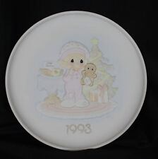 Vintage Precious Moments Plate Christmas Blessings 1993 Sweetest Gingerbread