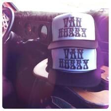 VANNER HUSSY black white adjustable hat chevy ford dodge van shirt patch vintage