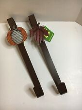 Lot Of 2 Wreath Hanger Fall Home Deco