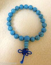 "Nwot Better World Goods Blue Speckled Karma Bead Bracelet Stretch 8"" 1/4"" Beads"