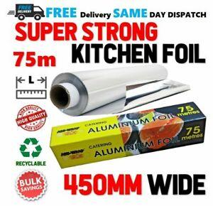 Aluminium Kitchen Catering Foil 450mm x 75m with Inbuilt Cutter (ALU-WRAP)