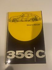 Porsche 356C Drivers Manual Original Factory Vintage 9-1963 Printing