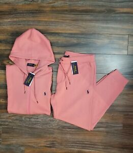 Polo Ralph Lauren Tracksuit Hoodie Jogger Coral Pink New W/Tags Men's Sz XL
