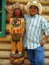 Frank Gallagher HAND CARVED 4 Ft Cigar Store Wooden Indian ** ON SALE! **