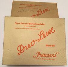 """2 x RARE VINTAGE """"DUO-Lux Principessa BC"""" Condensatore Flash GUN in scatola ottime condizioni"""