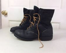 MILITARY Gore Tex Boots Black Leather Canvas Men's 11