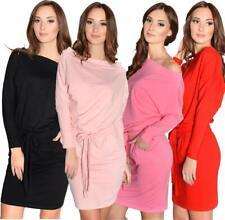 Ladies Mini Dress Long Sleeve Party Strapless Dress, S M L XL 2XL 3XL