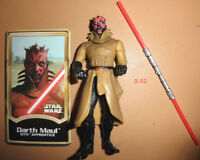 STAR WARS sith apprentice DARTH MAUL armor FIGURE toy POTJ + concept art card