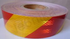 50m Red/Yellow Diamond Grade Super Reflective Tape Truck Lorry Trailer HGV 50mm